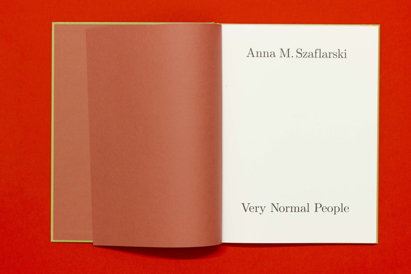 Anna M. Szaflarski Very Normal People
