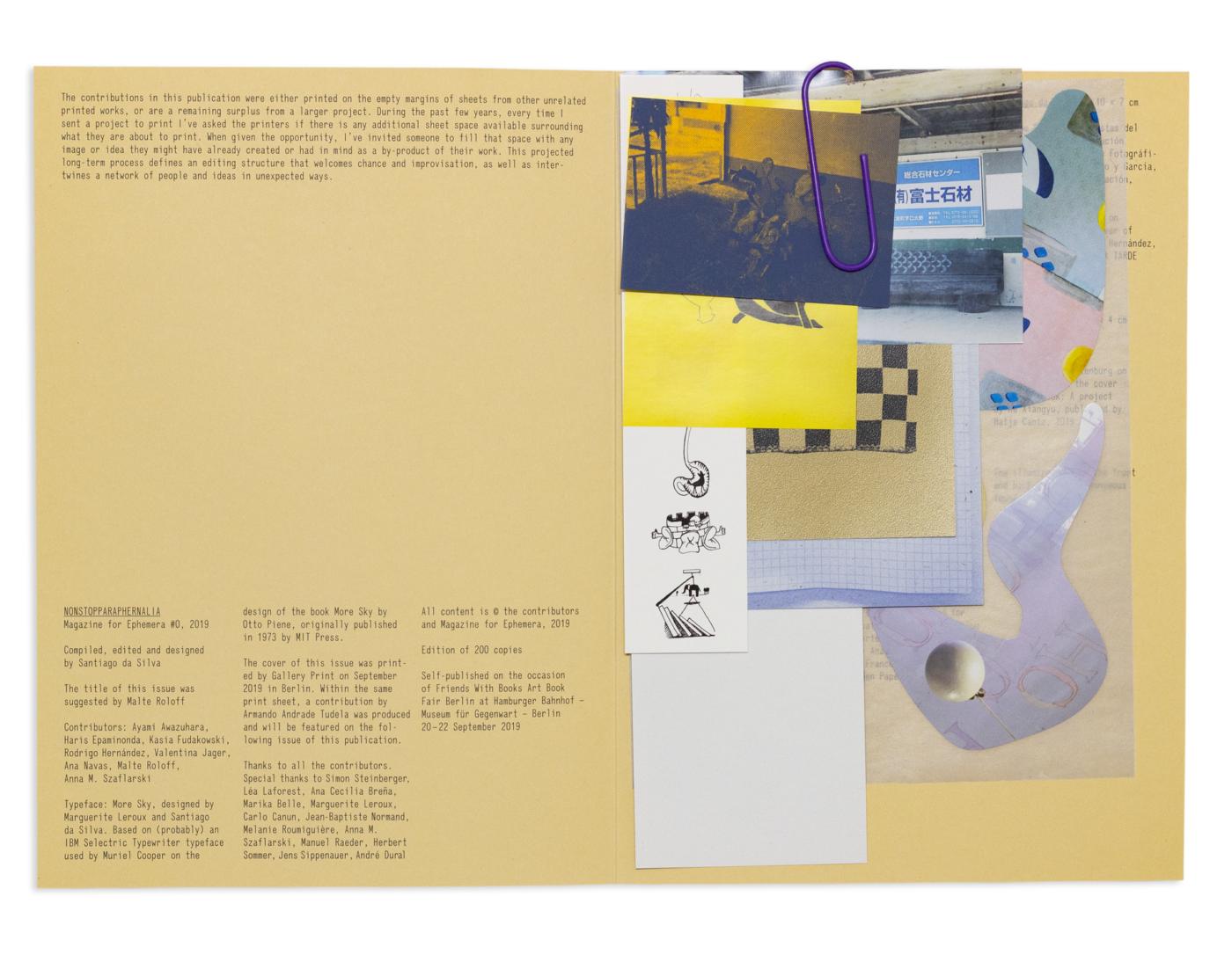 Magazine for Ephemera 0